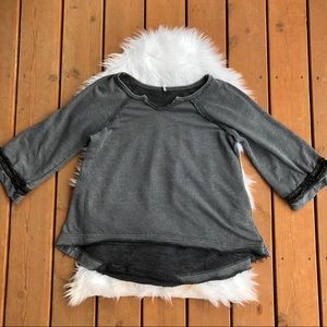 [Free People] Gray Oversized Top - Size Small